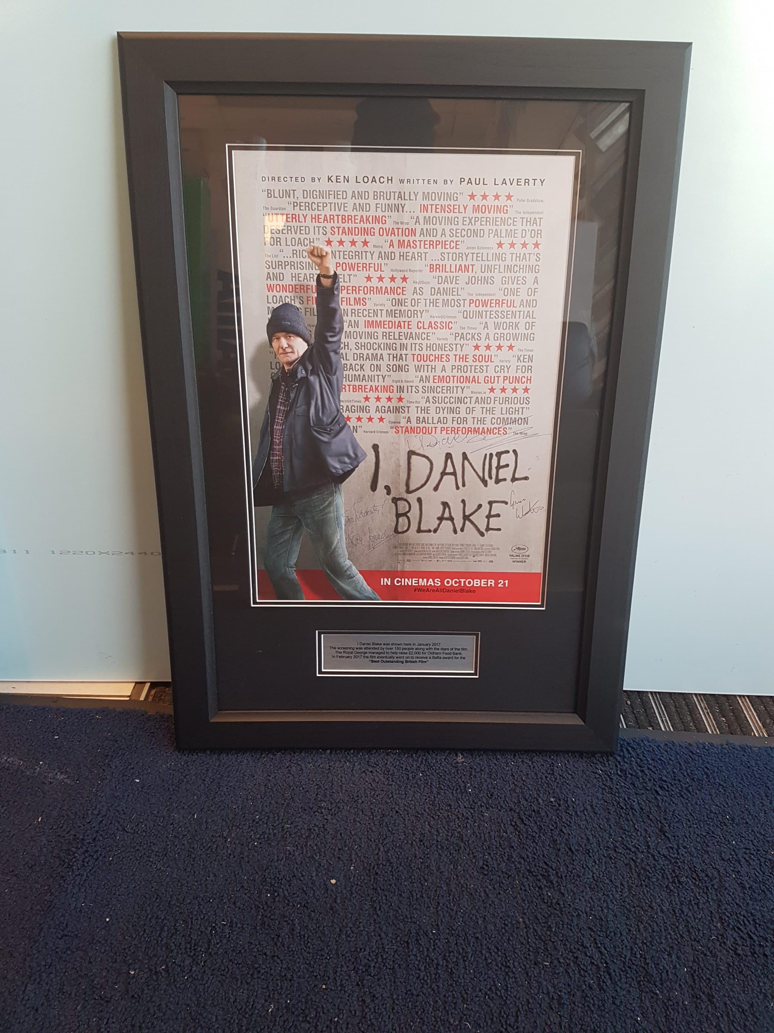 I Daniel Blake Poster Framed in Black MDF Moulding