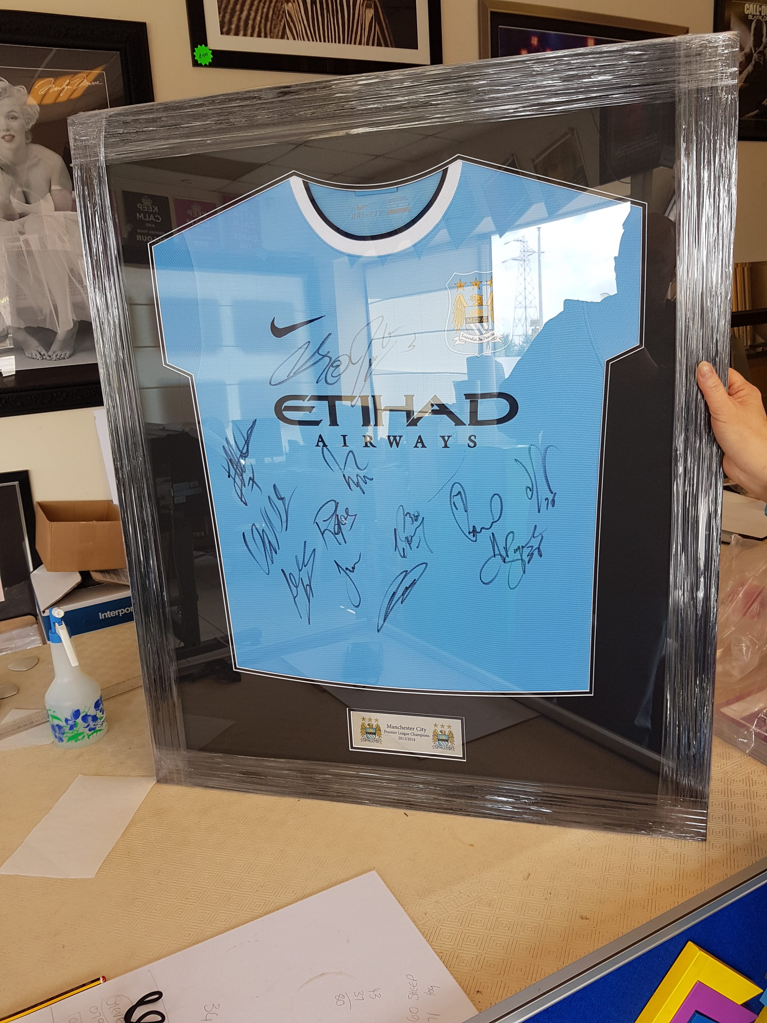 Manchester City Signed Shirt Memorabilia