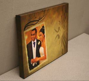 Canvas of wedding couple