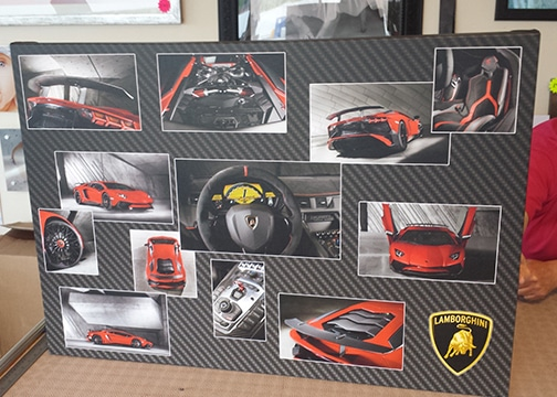 Lamborghini custom canvas