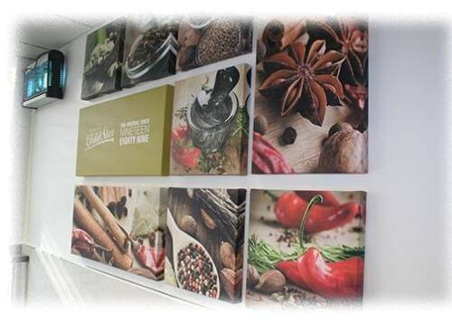 Multi canvas prints produced for Goldstar Restaurant. Set of 9 Canvas's.