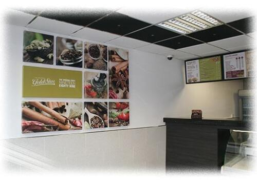 Bespoke canvas prints produced for Goldstar Restaurant Oldham.