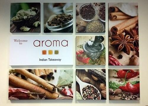 9 set canvas print produced for Aroma restaurant. Printed on Epson