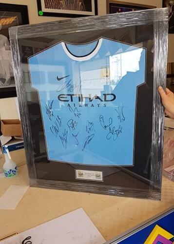 Manchester City Framed Shirt