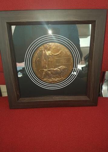 Multi Apperture coin framed for customer