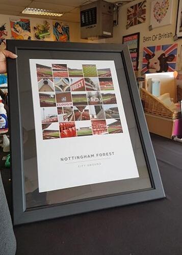 Nottingham Forest poster framed