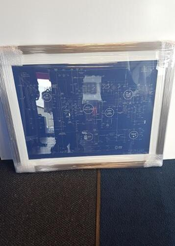 pop music poster framed with silver frame