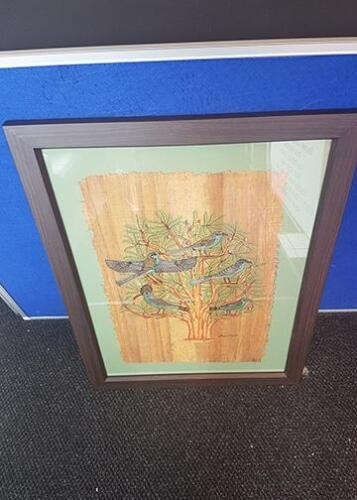 Papyrus mounted and framed.