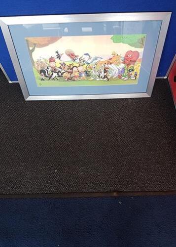 Framed childrens cartoon