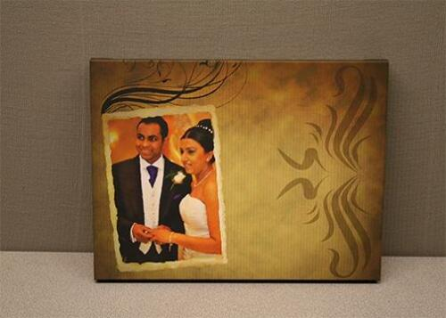 fancy effects on couples wedding canvas print.