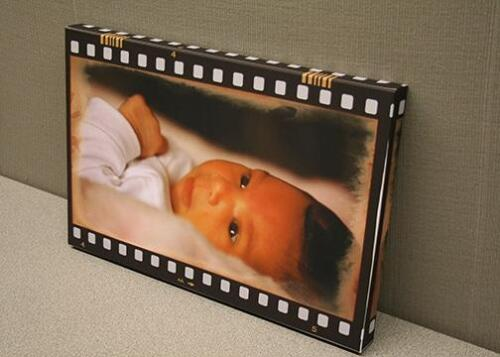 Fancy effects on custom baby canvas print