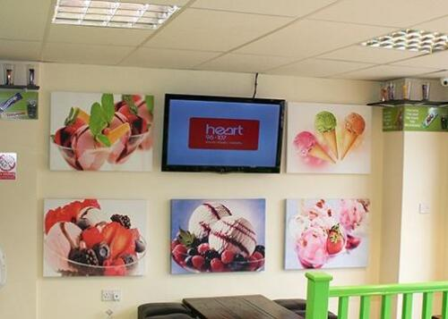 5 48 x 36 Canvas Prints of ice creams and desserts.