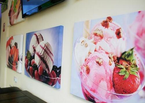 Canvas Prints produced for Sweet Treats ice cream parlour.