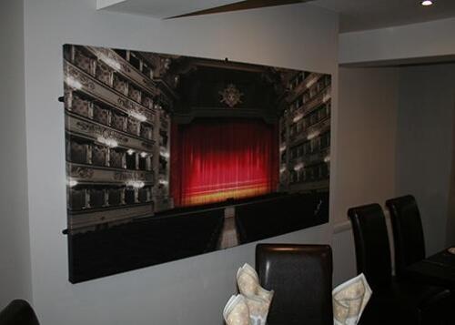 La Scala Restaurant Custom Canvas. 5 x 3 Foot.