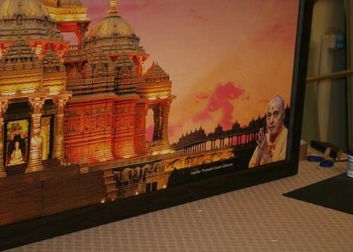 Swaminarayan Akshardham Canvas Print. 7 Foot Wide